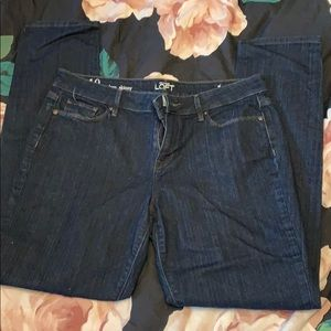 Dark wash Loft jeans